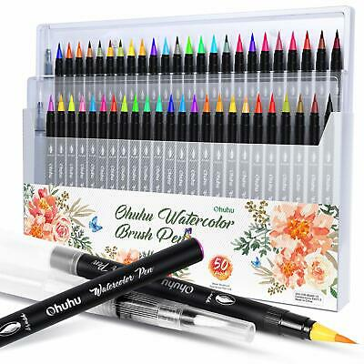Watercolor Brush Markers Pen, Ohuhu 48 Colors Water Based Drawing Marker Brushes