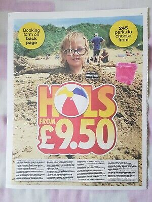 The Sun £9.50 Holidays POSTAL Booking form,  Tokens plus Accommodation List