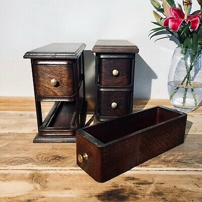 2 Sets of double singer sewing machine drawers Cabinets / Units. Original.