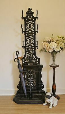 Vintage Antique Style Ornate Solid Cast Iron Hall Stand, Hat & Coat Stand