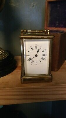 Travel Carriage Clock With Case And Key C1900