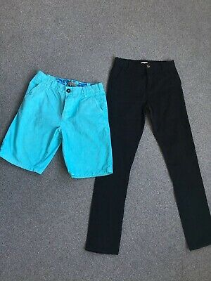 Boys Black Chinos Blue Zoo And Turquoise Next  Shorts Age 12