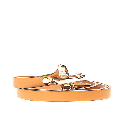 RRP €160 FAY Leather Size 90/36 Skinny Engraved Logo Clasp Closure Made in Italy