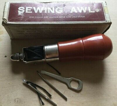 Leather Heavy Fabrics Sewing Awl - Storage In Handle