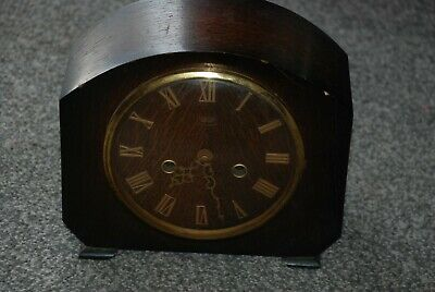 Vintage Smiths Enfield Wooden Mantle Clock **Spares & Repairs**