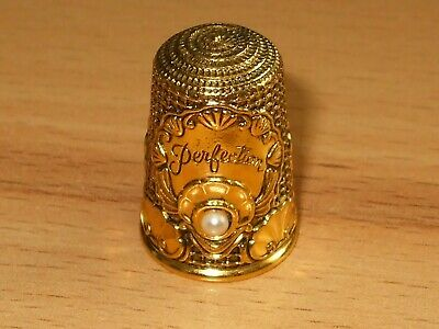 Thimble Fingerhut  ***Perfection*** Shell Muschel Silber 925 Vergoldet