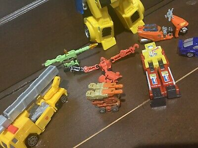 MC Dyna Drive motorized yellow truck part lot KO Moto-Bot Robo-Tron TF