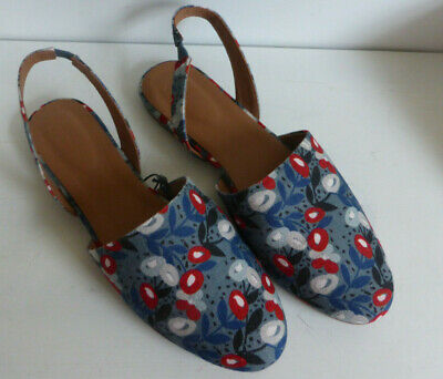Seasalt Shoes Size 42 ST Ives Floral dark Lichen Boxed and Mint