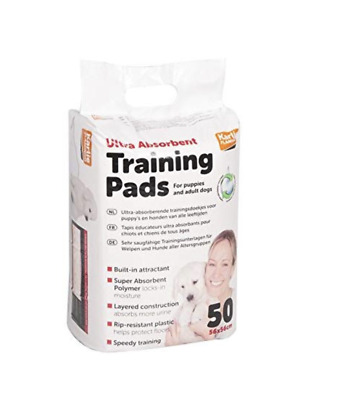 Karlie Ultra Absorbent Pads Dog Toilet Training Aid Puppy & Adult Dogs 56x56cm