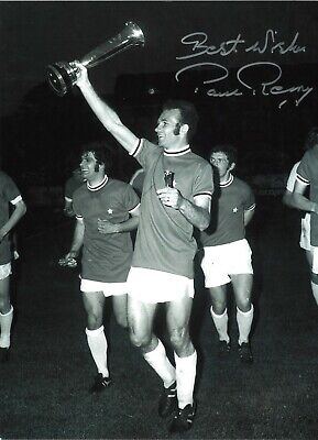 Paul Reaney Leeds United Authentic Hand Signed 16 x 12 football photo SS749a