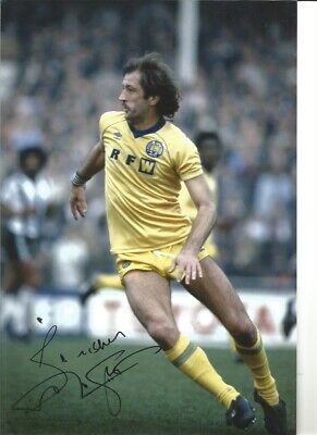 Frank Worthington Leeds United Authentic Hand Signed football photo SS751