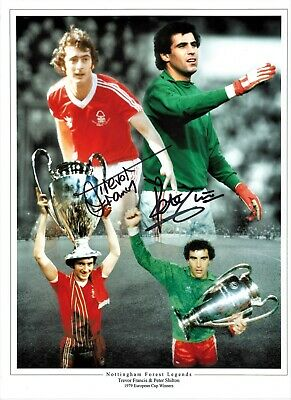 Trevor Francis Peter Shilton Notts Forest Authentic Football Signed photo SS779