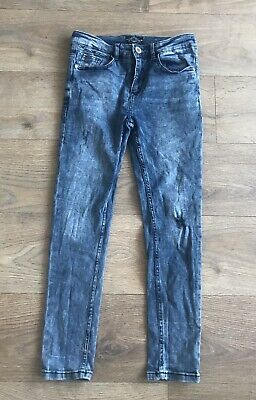 Next boys jeans 12 years blue skinny ripped C302