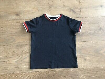 Boys River island navy blue t shirt 3-4 years A106