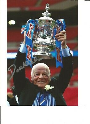 Dave Whelan Wigan Authentic Hand Signed 10 x 8 inch football photo SS803
