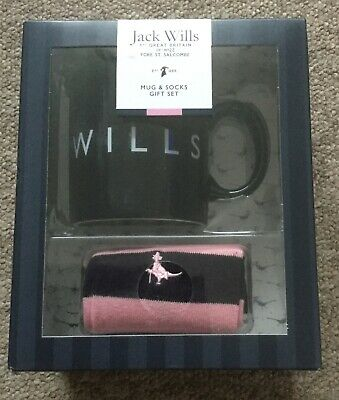 Brand New Men's Jack Wills Mug & Socks Gift Set
