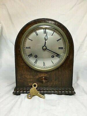 Sweet 8 day striking 'Empire' English mantle clock. Fully serviced
