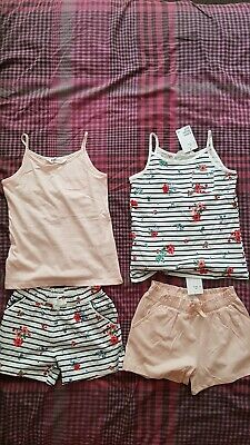 Brand New With Tags H&M Girls Shorts /Vests Outfits Age 6-8 Years