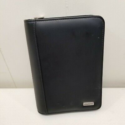 Franklin Covey Planner Day 1 One Black Zip Up Business Organizer Vegan Binder