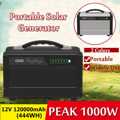 120000mAh Portable Solar Inverter Generator UPS Supply Energy Storage Source