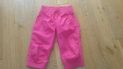 Kids cropped cotton trousers