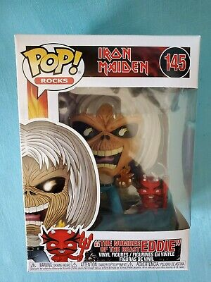 "Iron Maiden Funko Pop Rocks ""Number Of The Beast Eddie""-  2020    New"