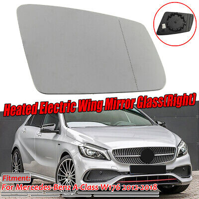 Mercedes A Class W176 10//2012-/> Heated Aspherical Mirror Glass Passenger Side
