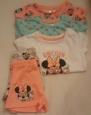 Girls 5 piece Minnie mouse top shorts outfit 6-9 months primark