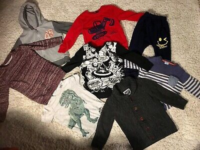 Bundle Boys clothes size 2-3 years jumpers joggers tshirt (H&M, Tu, F&F, George)