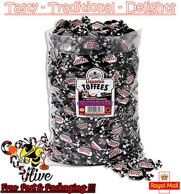 1 - 600 Walkers Nonsuch Liquorice Toffees Wrapped Sweets Pick N Mix Tradational