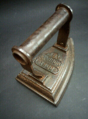 Antique Vintage Sad Iron Flat Iron Old Cast Iron Cannon 1900 Size 8