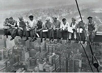 Lunch On A Skyscraper New York 1932 RCA Building 24x36 New
