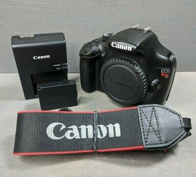 Canon EOS Rebel T3 / EOS 1100D 12.2MP DSLR Black Body - 6K Clicks!