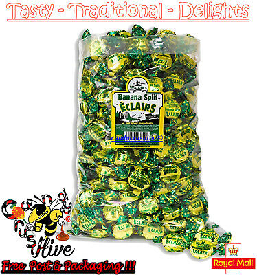 1 - 600 Walkers Nonsuch Banana Split Eclairs Wrapped Sweets Traditional PicknMix