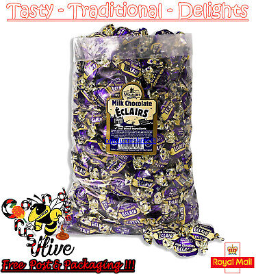 1 - 600 Walkers Nonsuch Milk Chocolate Eclairs Wrapped Sweets Traditional