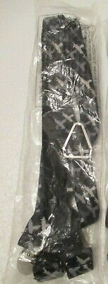 Buckle-Down Suspenders - Black with White Uzi NEW
