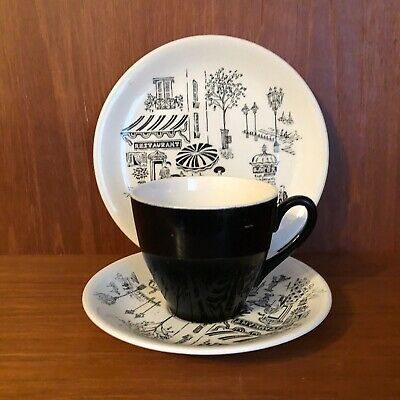 Ridgway Parisienne Cup, Saucer And Side Plate Enid Seely