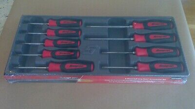 New Snap-on 9Pc Instinct Red Soft Grip Handle Torx Screwdriver Set # SGDTX90BR