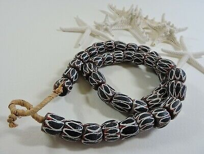 African Trade Beads Collectible Old King's Beads Necklace