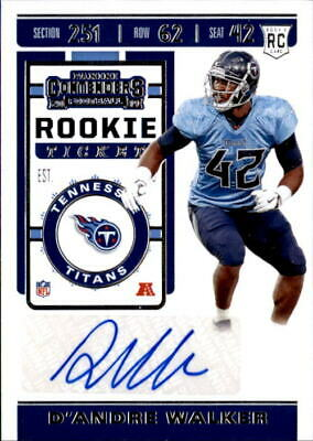 D'Andre Walker 201920 Panini Contenders Rookie Ticket Auto Card #195