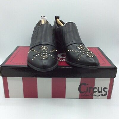 Circus By Sam Edelman Womens Ankle Boots Booties Black Studs Western Low 5 M New