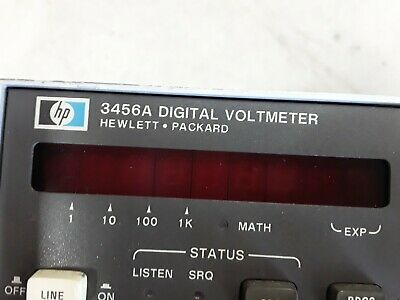HP / Agilent - 3456A, Programmable 6.5 Digit Digital Multimeter Voltmeter