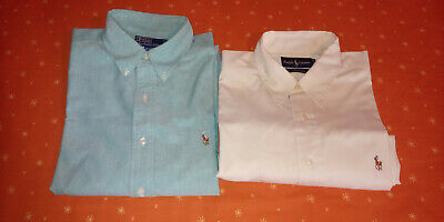 Lotto 2 camicie POLO by RALPH LAUREN Tg 16 1/2