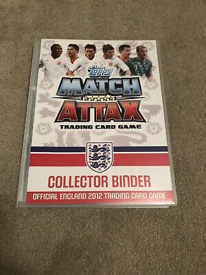Topps Match Attax Trading Card Game Official England 2012 Complete Album