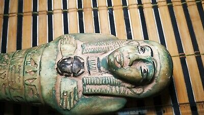 Giant Rare Shabti Egyptian Antique Ushabti Bc Ancient Statue Faience