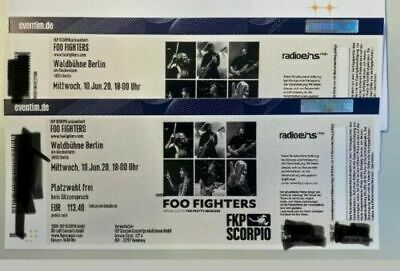 2 X Foo Fighters Tickets Berlin Waldbühne am 10.06.2020