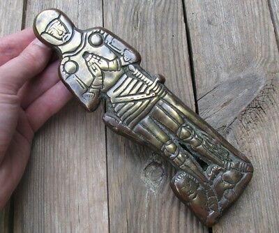 Vintage Reclaimed Brass Knight Door Knocker