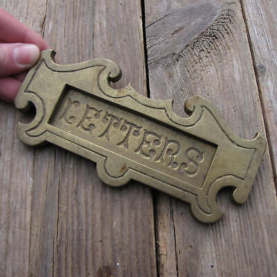 Antique Small Brass Letter Box Plate Door Mail Slot Mailbox with WORKING SPRING