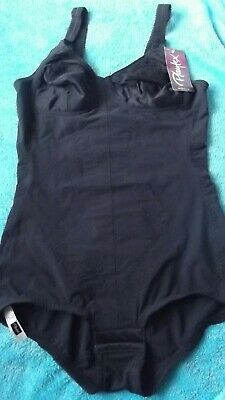 Playtex 'Cant Believe Its A Girdle' 34B / Pantie Corselette Corset Black Bnwt