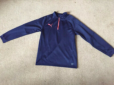 Junior Tracksuit Jacket Puma Boys Girls Football Track Top 13-16 Years